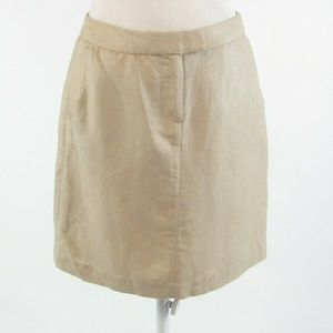 Beige CYNTHIA ROWLEY shimmery A-line skirt size 4